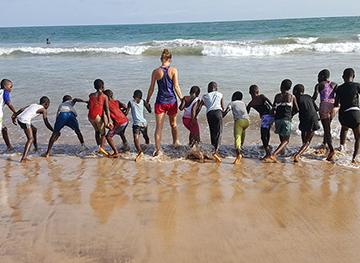 Swimming Lessons at Ebenezer Methodist School Takoradi