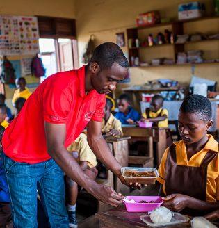 Feeding Program  Dzorwulu A & B Primary School
